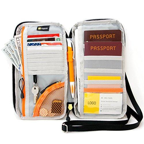 Travel Wallet und Reisepässe Halter mit RFID-blockierender von agilisk bieten Familie organizer für Kredit- und Visitenkarten, Dokument, Bordkarte, und Zubehör für Hals/Schulter. Get Yours jetzt.