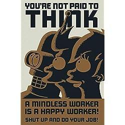 Poster Futurama, trabajadores.