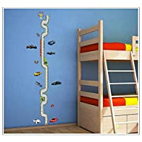 Creative Boys Love car Speedway Baby Children Height Measure Chart Wall Stickers for Kids Room Sticker Funny Nursery Decal