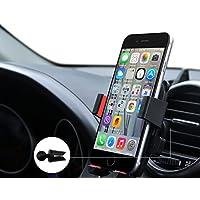 URNICE Universale Supporto Auto Regolabile 360 Grado Auto Air Vent Telefono Titolare Auto Culla Mount Kit di Montaggio per iPhone 7 6S 6 SE Plus, Samsung Galaxy Nota/Edge, Smartphone e Dispositivo GPS (Rosso)