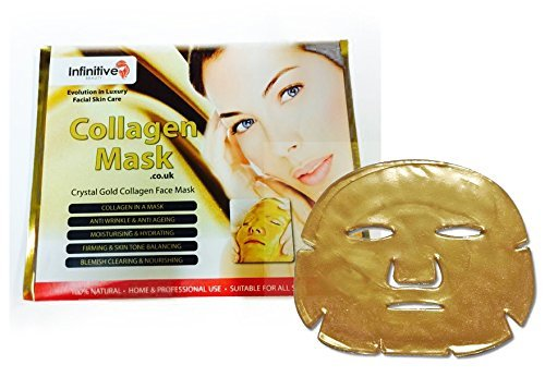 Blemish Clearing Serum (20 x New Infinitive Beauty Crystal 24K Gold Powder Gel Collagen Face Mask Masks Sheet Patch, Anti Ageing Aging, Skincare, Anti Wrinkle, Moisturising, Moisture, Hydrating, Uplifting, Whitening, Remove Blemishes & Blackheads Product. Firmer, Smoother, Tone, v)
