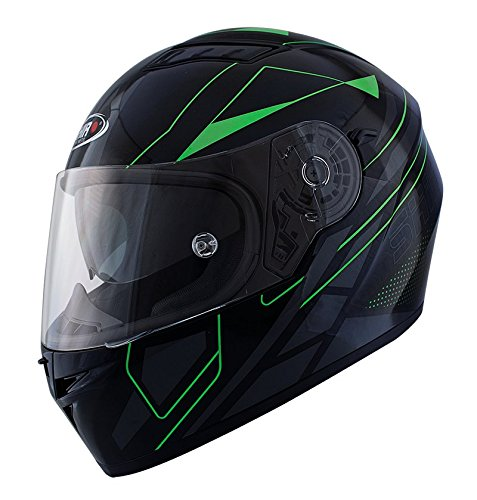 Casco Shiro SH 600 Elite Negro y Verde (L)