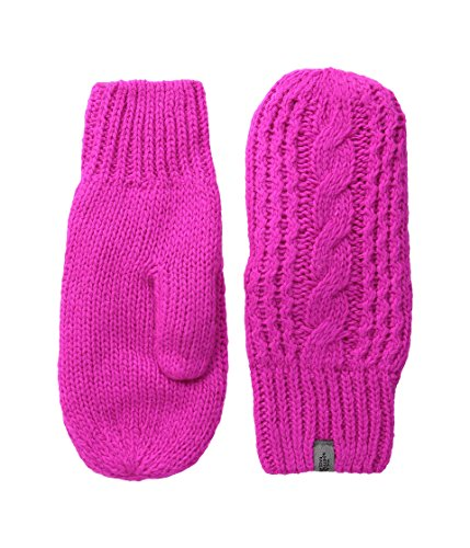 The North Face Cable Knit Mitt Womens Luminous Pink L-XL - Cable Knit Mitt