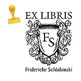 EX LIBRIS Stempel « INITIALEN » Abdruckgröße 40 x 50 mm - mit persönlichem Wunschnamen und Initialen