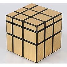 Topways® Shengshou 3x3x3 mágico cubo Intellengence Ninos Educacion Herramientas Magic cube Juego de Puzzle cube 57mm (Mirror oro)