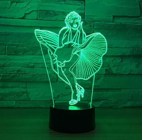 Singer Modello 3D Usb Night Light Remote Touch Lampada Da Tavolo Led Atmosfera Mood Lamp Xmas Gift Remote Control