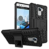 FoneExpert Huawei Honor 7 - Etui Housse Coque ShockProof Robuste Impact Armure Hybride Béquille Cover pour Huawei Honor 7 (Noir)
