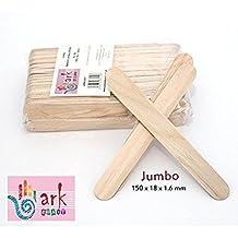 2 x 100 Jumbo Lollipop palos de madera natural