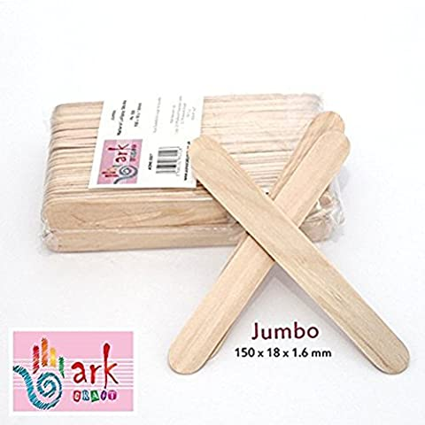 2 x 100 Jumbo Natural Wooden Lollipop Sticks