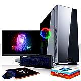 Fierce Warlord RGB Gaming PC Bundeln - Schnell 6 x 4.6GHz Hex-Core Intel Core i5 8600K, All-In-One Flüssigkühler, 1TB Seagate FireCuda Solid State Hybrid Drive, 16GB von 2666MHz DDR4 RAM / Speicher, NVIDIA GeForce GTX 1070 8GB, Gigabyte B360M AORUS GAMING 3 Hauptplatine, Game Max Hush Silent RGB Computergehäuse, HDMI, USB3, Wi - Fi, VR Bereit, 4K Bereit, Perfekt für High-End-Spiele, Windows 10 installiert, Tastatur (QWERTZ), Maus, 24-Zoll-Monitor, 3 Jahre Garantie 1037812