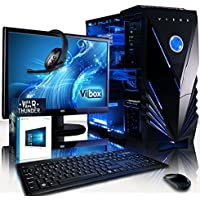 "VIBOX Zeta 24 Gaming PC Computer with War Thunder Game Voucher, Windows 10 OS, 22"" HD Monitor (4.0GHz AMD FX Quad-Core Processor, Radeon RX 460 Graphics Card, 16GB DDR3 1600MHz RAM, 3TB HDD)"