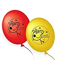 Peppa Pig 203790 Balloons Party Decorations Red and Yellow (Pack of 10), Multicolour