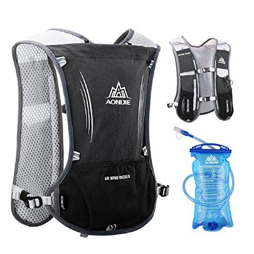 Triwonder Hydration Pack Backpack 5L Marathoner Race Race Hydration Vest (Nero - con 1,5 litri d'acqua)