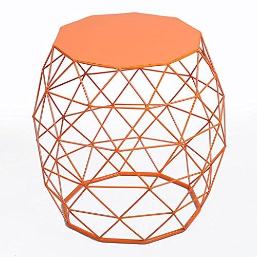 Tische Einfache kreative moderne Sofa Rand Couchtisch American Land Wohnzimmer Eisen Runde Ecke ( Farbe : B ) Land Beistelltisch