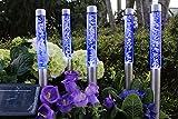 Solarlampe im 5er-Set LED 40cm mit Erdspieß Solarleuchte Gartenlampe Exclusiv (Blau)