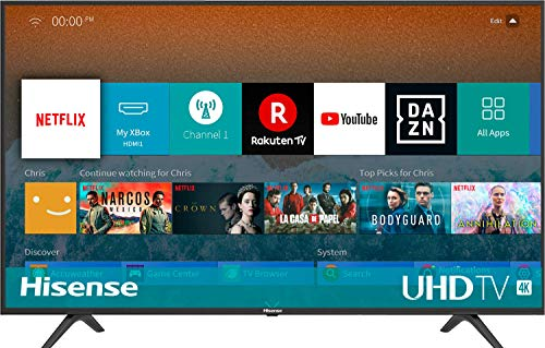 HISENSE H50BE7000 TV LED Ultra HD 4K, HDR, Dolby DTS, Slim Design, Smart TV VIDAA U3.0 AI, Triple...