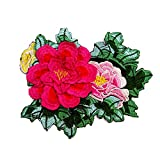 emorias 1pc Cerotti ricamati Belle applique abbigliamento elegante Ecusson exquis ricamo Beau Cerotti cucire patch motivo di fiore di Pivoine per abbigliamento tenda sciarpa
