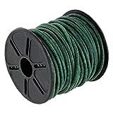 Auroris 10m Rolle Premium Lederband Rund - Ø 2mm - Antik-Smaragdgrün