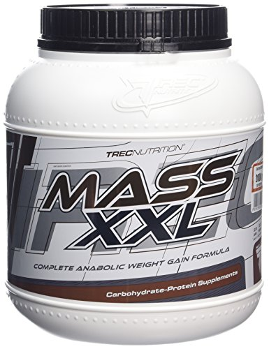 Trec Nutrition MASS XXL 2000g Vanilla Complete Anabolic Weight Gain Formula Carbohydrate and whey protein complex 19% protein with vitamins RAPID INCREASE OF MUSCLE MASS