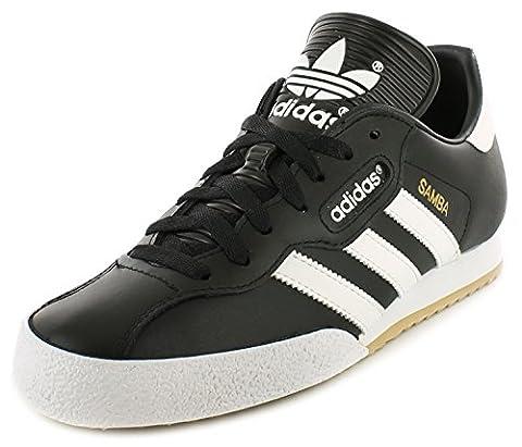 Adidas Samba Super Schwarz Textil Leder Hallenfußball Turnschuhe - Schwarz/weiß - UK GRÖßEN 6-12 - Schwarz/Weiß, EU 44,