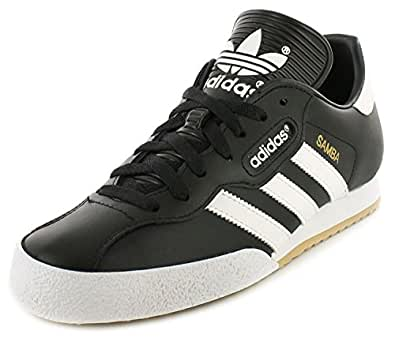Adidas Samba Super Black Textile Leather Indoor Soccer Shoes Trainers - Black/White - UK SIZE 7
