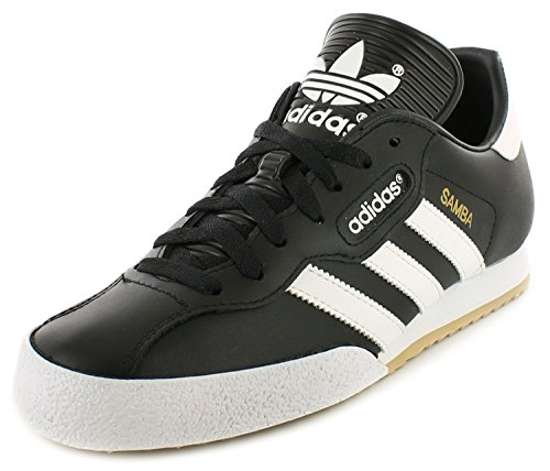 Adidas Samba Super Black Textile Leather Indoor Soccer Shoes Trainers - Black/White...
