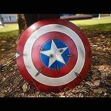 Lydia's Anime Capitán América Escudos Edición De Daños En La Guerra Marvel Legends The Avengers Full Metal 1: 1 Proceso De Fundición A Presión Aleación De Aluminio Aviación Escudo De Mano 60CM