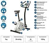 maxVitalis Ergometer Fitnessbike mit Magentbremssystem Heimtrainer Fahrrad 21 Trainingsprogramme - 2