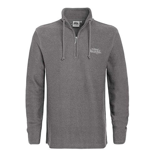 Weird Fish Herren Cruiser Macaroni 1/4 Zip Fleece Frost Grey