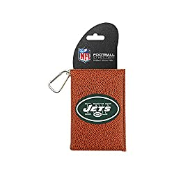 NFL New York Jets Classic Football ID Holder, One Size, Brown
