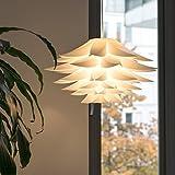 Lotus Lampenschirm, Lampwin DIY Puzzle Lampe Hängeleuchtenschirm IQ PP Anhänger, für Weihnachten, Wohnzimmer, Schlafzimmer, Studie, Esszimmer, Dekor Beleuchtung