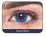 #7: Affaires Soft Color Cosmetic lens Yearly Disposable Contact lenses ,One Tone (2 Lens Pack) (Aqua Blue)