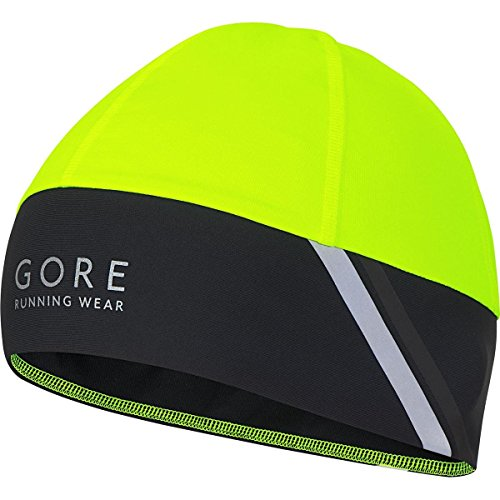 GORE RUNNING WEAR, Berretto Corsa Uomo, Antivento, GORE Selected Fabrics, MYTHOS 2.0 WS, Taglia unica, Giallo/Nero, HMYTBN089902