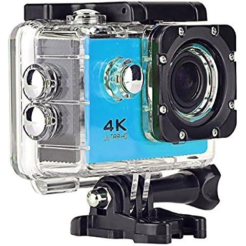 Topjoy F60 4K Ultra HD cámara de deportes de acción WIFI impermeable cámara del deporte con 2,0 pulgadas de pantalla LCD y 170 lente gran angular para Ciclismo Buceo