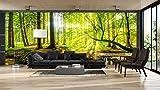 Fotomural Vinilo Bosque Primavera | Fotomurales | Fotomural pared | Fotomural Decorativo | Vinilo Decorativo | Varias Medidas 100x70cm | Para la decoración de comedores, salones | Motivos Paisajisticos | Urbes, Naturaleza, Arte | Multicolor | Diseño Elegante