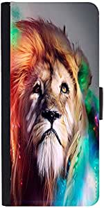 Snoogg Colorful Lion 2770 Designer Protective Phone Flip Case Cover For Samsung Galaxy J2