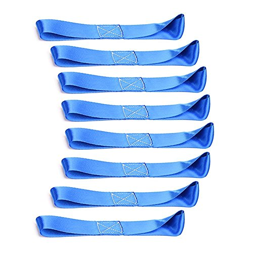Zurrschlaufen Spanngurt Tie-Down Straps für-ATV, UTV, Motorrad, 8 Stück, 7,8 Zoll