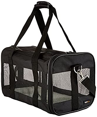 AmazonBasics Black Soft-Sided Pet Carrier - Small/Medium/Large