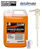 detailmate Auto Pflege Set aus Valet Pro Advanced Neutral Snow Foam 5 Liter + Valet Pro Dispenser Pumpe Messbecher 50 ml (5 Liter + Pumpe + Messbecher)