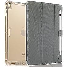 Vanctec para iPad Pro 12.9 Funda, iPad Pro 12.9 Case, Apple Nuevo iPad Pro 12.9 Pulgada 2017 Cover Smart Folio Stand Protector Heavy Duty Rugged Impact Resistant Armor Funda con Apple Portalápiz, S-Gris