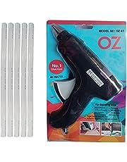 Aptechdeals AP-GG11A014 Nylon 40 W Hot melt Glue Gun with 5 Hot Melt Glue Sticks (Black)