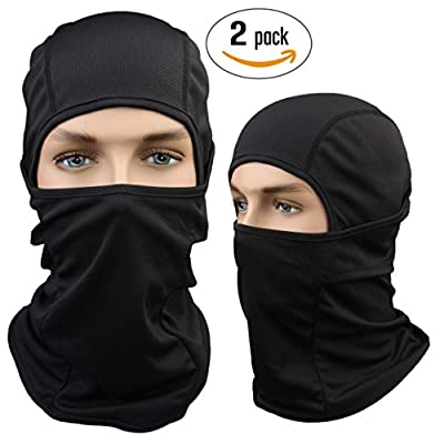 Dimples Excel Balaclava Motorcycle Tactical Skiing Face Mask [2-PACK] by Dimples Excel Ltd