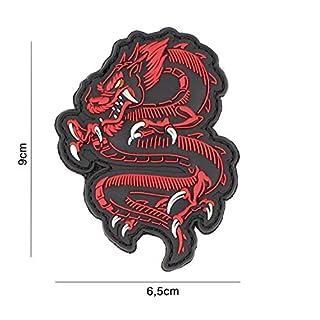 Tactical Attack Red Dragon Roter Drache Softair Sniper PVC Patch Logo Klett inkl gegenseite zum aufnähen Paintball Airsoft Abzeichen Fun Outdoor Freizeit