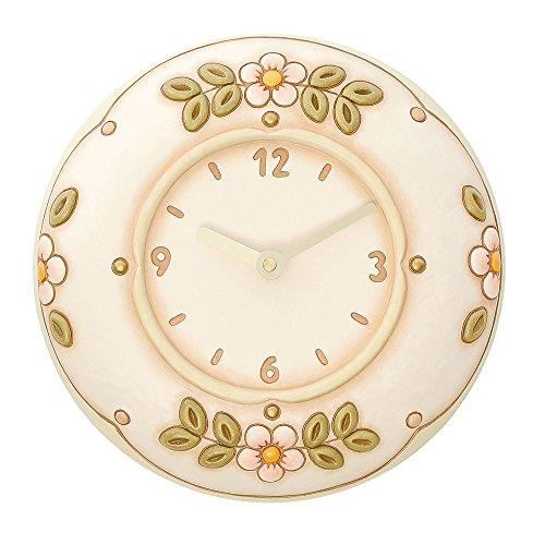 THUN Fiori Orologio da Parete, Ceramica, Variopinto