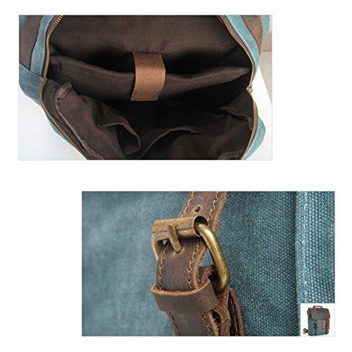 YAAGLE Canvas europäisch Damen und Herren Unisex Retrotasche Rucksack Reisetasche groß Fassungsvermögen Schüler Schultasche Laptoptasche Schultertasche-khkai(Large) khaki(Small)
