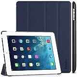 EasyAcc Gold iPad 4 Hülle Schutzhülle Etui Tasche für Apple iPad 2/3/4 Smart Case Cover mit eingebautem Magnet für Einschlaf/Aufwach - Dunkelblau