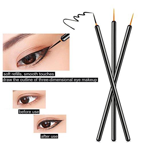 100 Pack Disposable Eyeliner Wands Applicator Makeup Tool Brushes