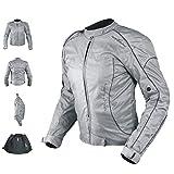 Veste Blouson Femme Moto Nylon Oxford Gilet Thermique Protections gris L