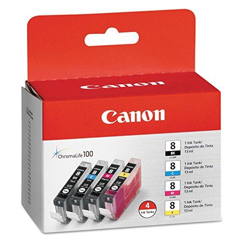 Canon CLI-8Vier Pack iP4200/iP4300/iP5200/iP5200R/PIXMA Pro9000/Pro9000Mark II Tinte Tank NEU (Flügel Ringer)