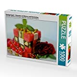 Hochgestapelt - Türmchen mit Melone und Schafskäse 1000 Teile Puzzle Quer